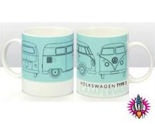 OFFICIAL VW VOLKSWAGEN CAMPER VAN TYPE 2 BLUE TEA COFFEE CUP MUG NEW & BOXED