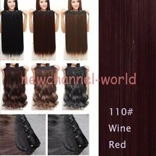 100% Natural Long 3/4 Full Head Clip in Hair Extensions as human Curly Straight