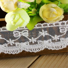 1 yd Lace Trimming Embroidered Bowknot Cotton Mesh Wedding  Ribbon Sewing Crafts
