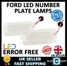 FORD S-MAX 2006  LED NUMBER LICENSE PLATE LIGHT LAMP XENON WHITE BULBS UPGRADE