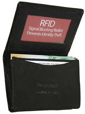 Black RFID Security Leather Expandable Credit Card ID Business Holder Wallet