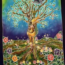 Tree Sisters Entwined Goddess Mother Nature Banner Wall Hanging Flag  #BA002