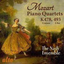 CD MOZART TWO PIANO QUARTETS K478 K493 NASH ENSEMBLE