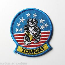 US NAVY F-14 TOMCAT TOM CAT BABY ROUND EMBROIDERED PATCH 3 INCHES