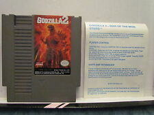 Godzilla 2 (NES, Nintendo) Cleaned and Tested w/Case & Instruction Card