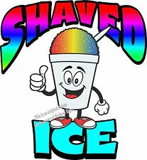 "Shaved Ice Vinyl Decal 24"" Shave Concession Ice Cream Food Truck Cart"