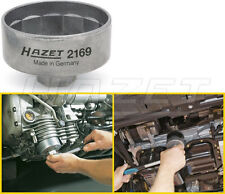 "Hazet 14 Point Engine Oil Filter Wrench 74.4mm with 3/8"" Drive / 27mm New 2169"