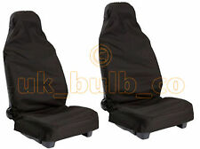 2 X BLACK SEAT COVERS TO FIT GREAT WALL MODELS - WATER RESISTANT