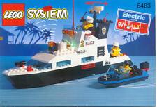 LEGO solo istruzioni set 6483 Coastal Patrol Polizia Police only Instrunctions