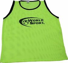 Set 6 PRO QUALITY scrimmage vests pinnies Youth yellow Soccer Football training