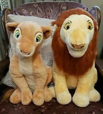 Disney store adult simba and nala soft plush toys the lion king