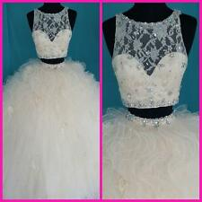 Hot Selling Two-Piece Ball Quinceanera Dresses Lace/Organza Prom Gown CustomSize