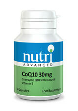 CoQ10 (Co-Enzyme Q10) - 60 - 30mg Capsules by Nutri Advanced - with Vitamin E