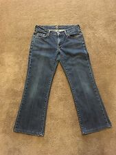 7 For All Mankind Jeans by Jerome Dahan Boot Cut Jeans Size 28 (29X25 1/2) GUC