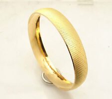 Textured Diamond Cut Bangle Bracelet Real 22K Yellow Gold 22 AYAR BILEZIK 19.1gr