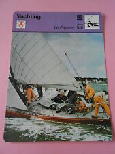 Yachting Le Fastnet course au large  Fiche Card 1978