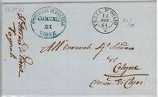 Brescia --- ITALIA REGNO:  storia postale - BUSTA / LETTERA : Vezza d'Oglio 1864