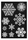 27 Large Snowflake Window Clings Christmas Stickers Winter Reusable Decorations