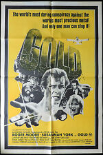 GOLD Roger Moore ORIGINAL One Sheet Movie poster Susannah York