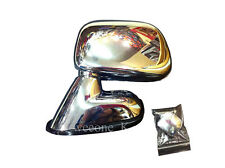 CHROME SIDE WING MIRROR VIEW TOYOTA HILUX PICKUP TIGER MK4 2003 - 2004