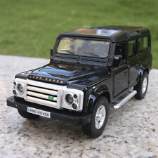 Black Land Rover Defender 5.3 inches Alloy Diecast Car Model Pull-back motor Toy