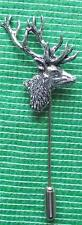 ST9 NEW Hunting Shooting Country Pewter Stick Stock Tie Pin : Red Deer Stag Head