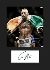 CONOR McGREGOR #1 (UFC) Signed Photo A5 Mounted Print - FREE DELIVERY
