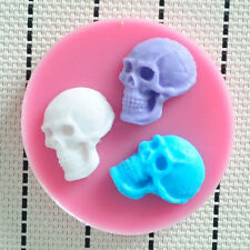 New Ghost Skull Silicone Cake Mould Chocolate Mold Candy Fondant Decorating Tool
