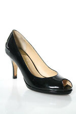 Cole Haan Collection Black Patent Leather Peep Toe Carma OT Air Pumps Size 7 B