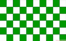 "GREEN AND WHITE CHECKERED 18"" x 12"" FLAG suitable for Boats Caravans"