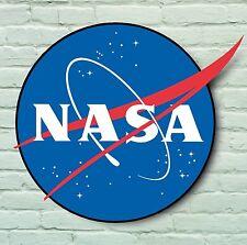 NASA LOGO PLAQUE USA BADGE AMERICAN SPACE PROGRAM APOLLO 13 MOON PLUTO ROCKET