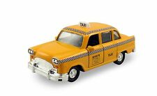 """5.25"""" diecast model toy car Old fashion classic checker yellow taxi #113B"""