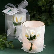 50 - Stunning Calla Lily Design Candle  - Wedding Favors