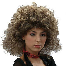 Two Tone Large Curly Afro Wig Brown Tina Turned Beyonce Fancy Dress