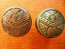 Antique Fancy Cast Bronze Doorknobs Door Knobs c1883 by Norwich - Unusual