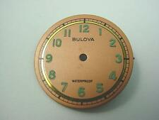 Bulova Copper 23.56mm Vintage Watch Dial Waterproof Numeral Markers New Old Stck