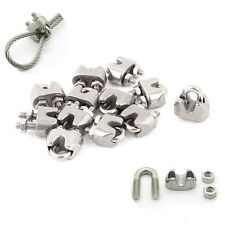 "2mm 1/16"" Stainless Steel Wire Rope Cable Clamp Fastener 12pcs NM"