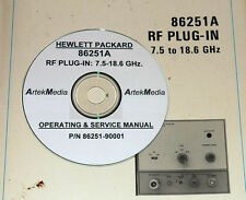 HP 86251A RF PLUG-IN Operating & Service  Manual
