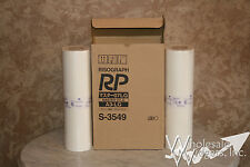 2 Genuine Riso Brand S-3549 Master Rolls Risograph OEM Type RP 07 LG Size A3