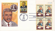1981 FIRST DAY COVER FDC BLACK HERITAGE WHITNEY MOORE YOUNG NAT. URBAN LEAGUE