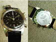 Vintage Gander diver plongeur chronograph valjoux 92 all steel screw back 36mm