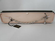 Juicy couture safety pin charm bracelet silver tone YJUO507