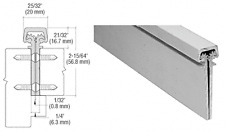 Satin Anodized 350 Series Heavy-Duty Concealed Leaf Continuous Hinge -
