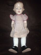 "Antique 23"" All Composition Peggy Doll Amberg? Horsman? Painted Facial Features"