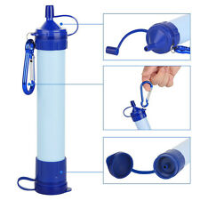 Portable Camping Hiking Emergency Life Survival Purifier Water Filter Straw Gear