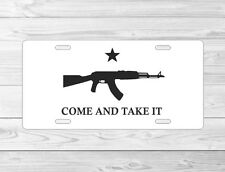 AK47 come and take it front License Plate Tag car truck frame gun ammo ar14 m14