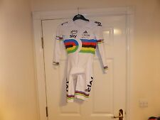 Adidas Sky long sleeved multi coloured British Cycling Suit Size L
