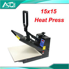 15x15inch Digital Flat Heat Press Transfer Machine Printing T-shirt Business