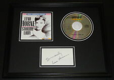 Lena Horne Signed Framed Stormy Lady 11x14 CD & Photo Display