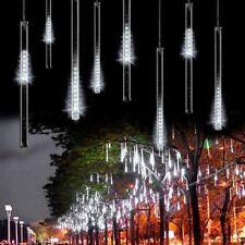 50CM 240LED 8 Rohre Meteor Dusche Regen Lichterkette Weihnachten Lichter Weiß